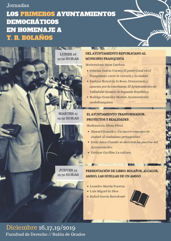 Programa de las jornadas los primeros ayuntamientos democraticos